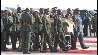 Former Zimbabwean President Mugabe's Body Arrives In Harare