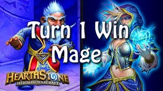 Hearthstone - Turn 1 win with Mage thumbnail