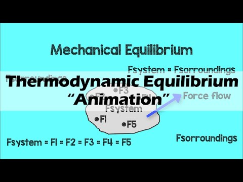 THERMODYNAMIC EQUILIBRIUM   Animation