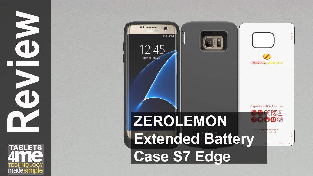 finest selection e75a0 73ae3 ZeroLemon Samsung Galaxy S7 Edge Battery Case 8500 MAH