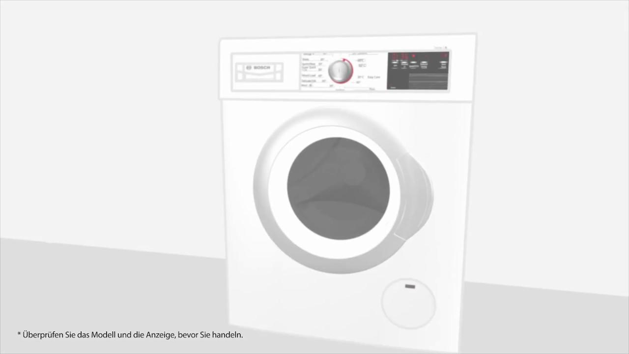 Bosch Waschmaschine Kindersicherung