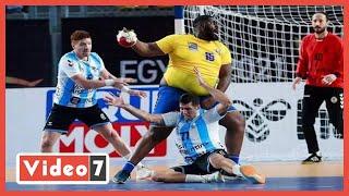 موفوبى أضخم لاعب كرة يد لليوم السابع: وزنى لا يمنعنى من إحراز الأهداف.. فيديو - اليوم السابع
