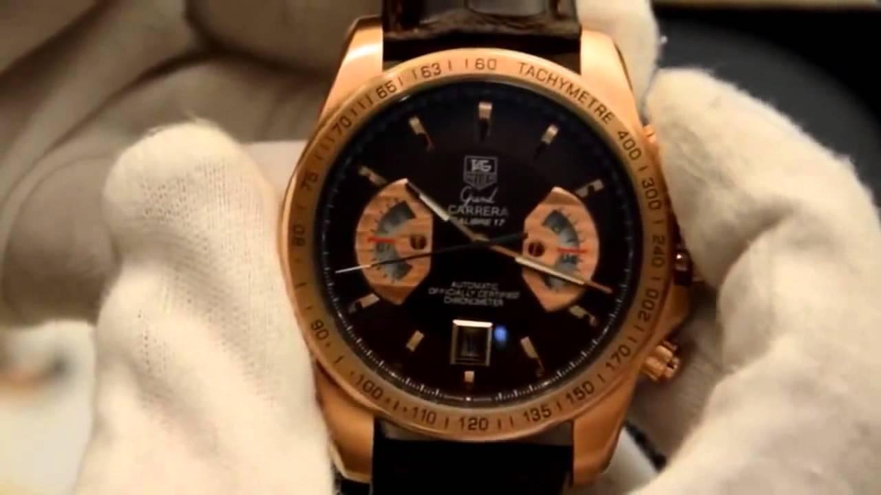 4aaa1ec268a Tag Heuer Grand Carrera Calibre 17 GOLD - YouTube