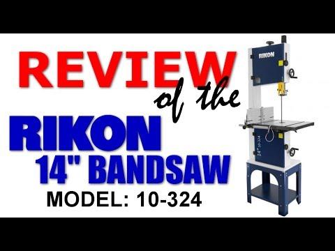 "Shop Work: Rikon 14"" 10-324 Bandsaw Setup & Review"