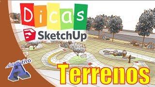 Terrenos no SketchUp (Parte 2) - Ferramentas Caixas de Areia - Autocriativo