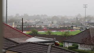 Ex-Hurricane Ophelia Causes Extensive Damage to Football Ground Ahead of Vital Game