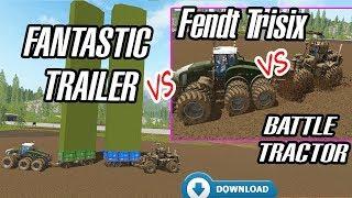 Farming Simulator 17: Fantastic Trailer VS Fendt Trisix VS More Mud VS Easy Silo Filling...