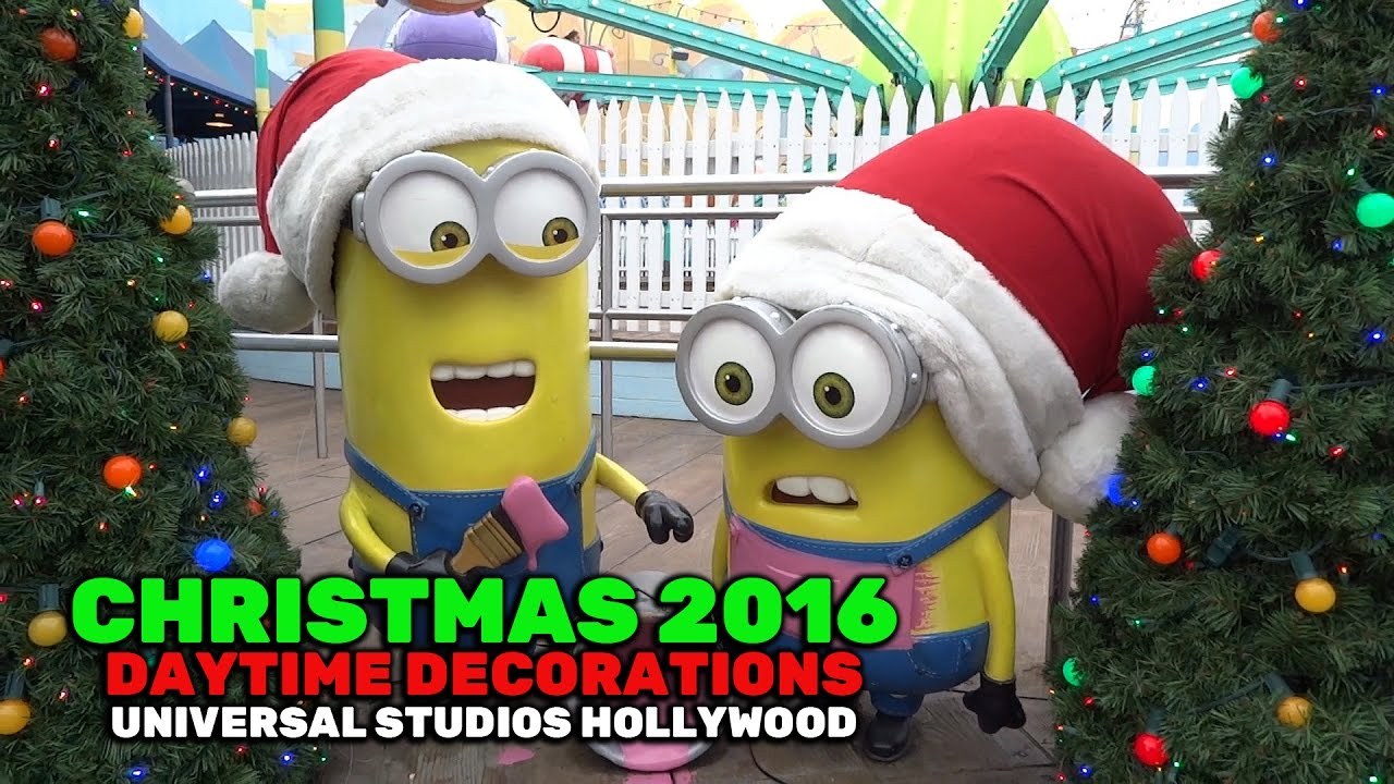 christmas decorations daytime at universal studios hollywood 2016 youtube - When Does Universal Studios Hollywood Decorate For Christmas