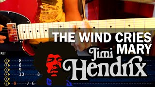 "Cómo tocar ""The Wind Cries Mary"" de Jimi Hendrix en Guitarra (HD) Tutorial - Christianvib"