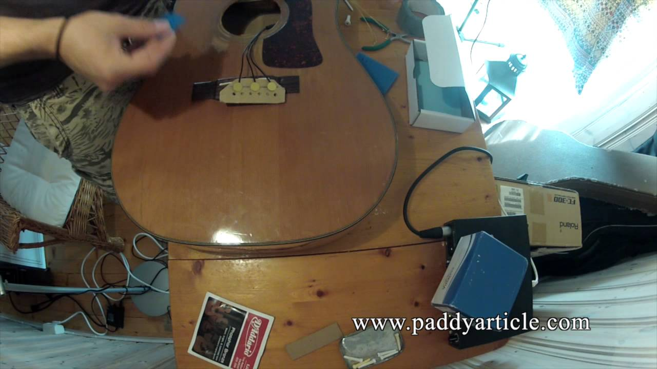 K&K Pure Mini acoustic guitar pickup installation. How to install ...