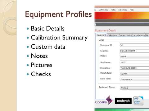 LAB : Calibration And Equipment Management Software