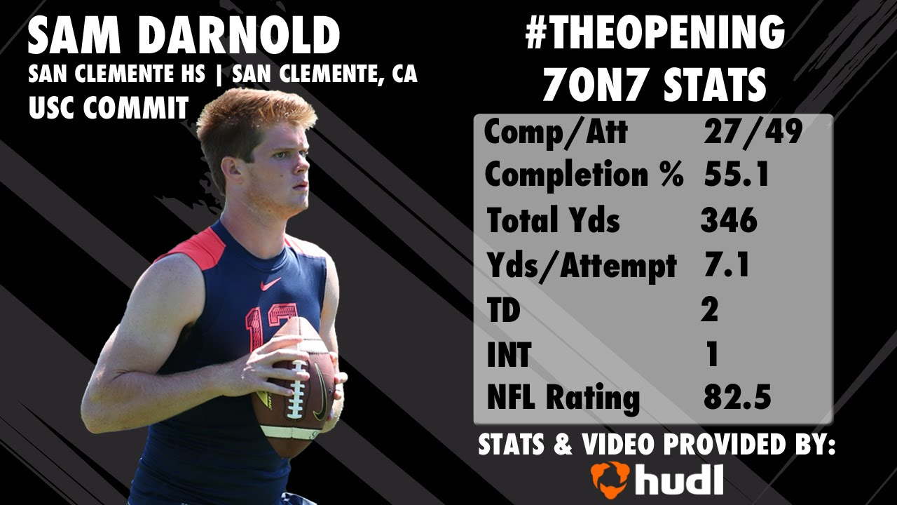 The Opening Sam Darnold 7on7 Highlights