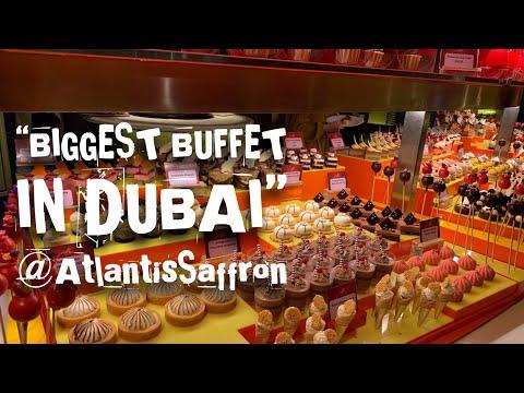 """BIGGEST BUFFET IN DUBAI"" at ATLANTIS THE PALM-Saffron Restaurant (Anniversary Dinner)"