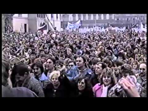 Czechoslovak Velvet Revolution in Olomouc 1989