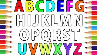 Alphabets Coloring and Drawing | Learn Alphabet ABC and Numbers 123 Colors | Learn Colors for kids