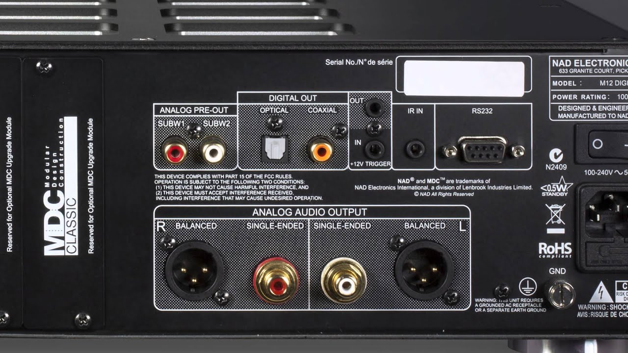 NAD Masters Series M12 stereo preamp and M22 amplifier combo   Crutchfield  Video