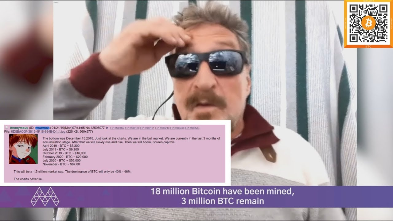 JOHN MCAFEE 2 MILLION BITCOIN IN 2020! | BITCOIN TIME TRAVELLER EXPOSED!!!