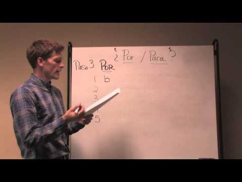 UT Media Center: (Grammar) Por vs Para
