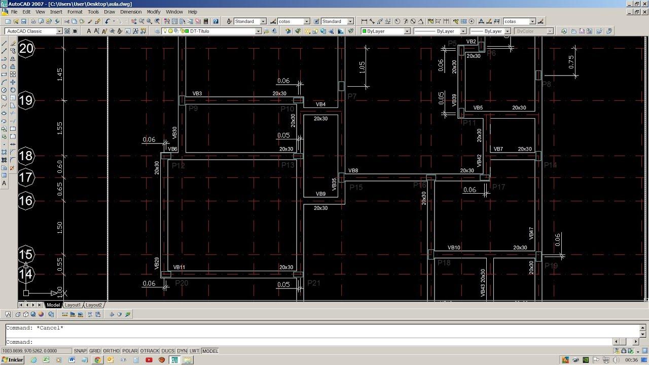 Desenhar Planta Baixa Estrutura Funda 231 227 O Estacas Blocos Vigas