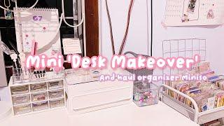 •. Tata Meja Belajar + Haul Organizer Miniso!! Mini Desk Makeover .•
