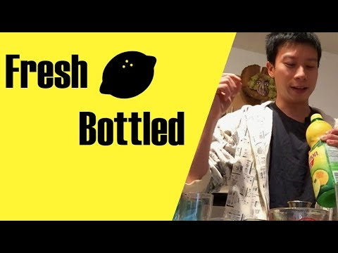 Fresh Lemon Juice vs Bottled Lemon Juice - Or the Lemon Drop Shot Experiment