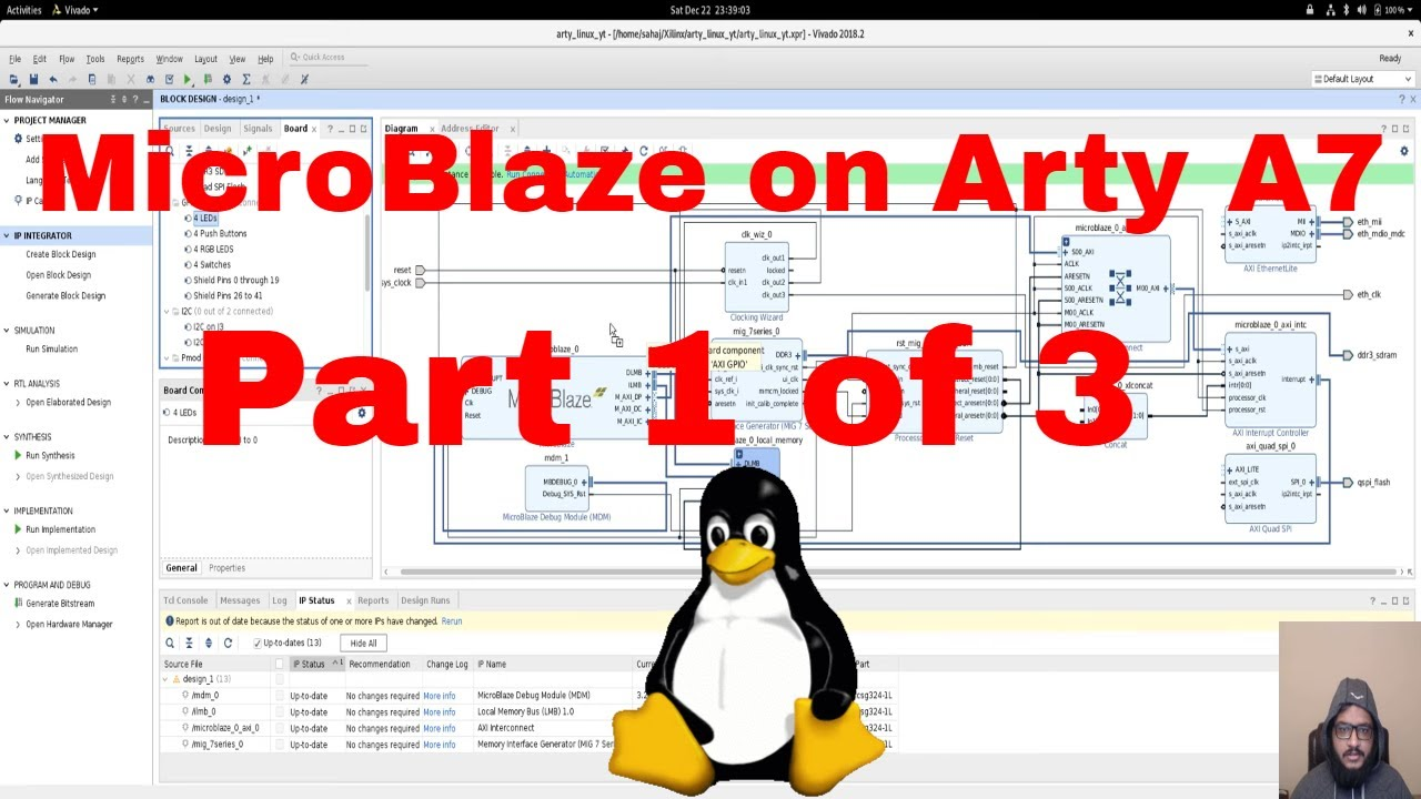 Designing a custom Linux SoC using Xilinx MicroBlaze on Arty A7 | Part 1:  Designing in Vivado