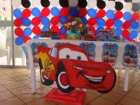 Decoracion de fiestas infantiles de cars youtube for Imagenes de decoracion de fiestas infantiles
