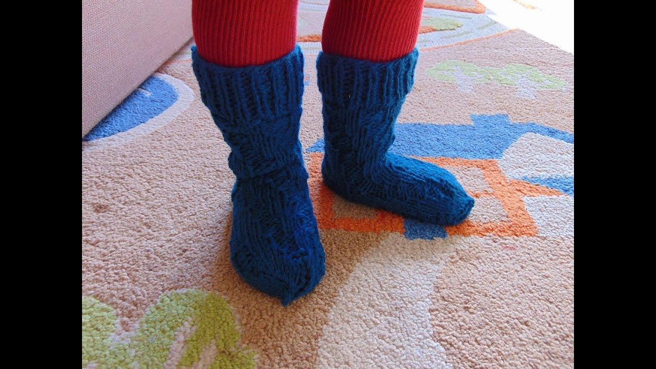Как связать носки спицами на два года