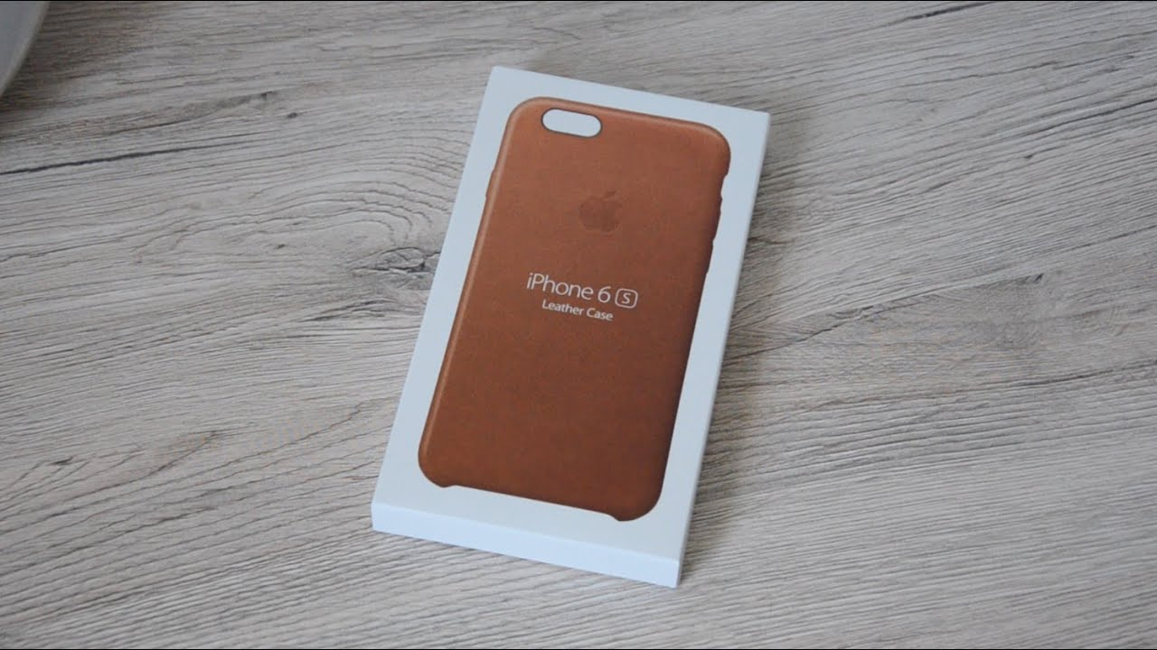 iPhone leather iphone case : iPhone 6S Leather Case Saddle Brown Unboxing und Anprobe mit iPhone ...