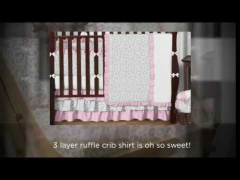 Kenya Pink And Gray Cheetah Crib Bedding Set