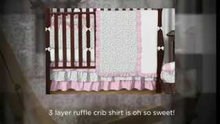 Kenya Pink And Gray Cheetah Crib Bedding Set