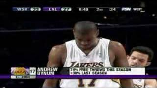 Jordan Farmar Tucks In Andrew Bynum
