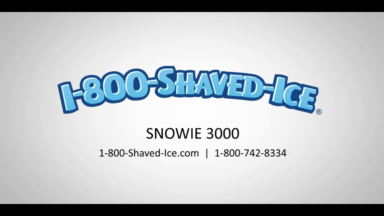 Snowie 3000 shaved ice