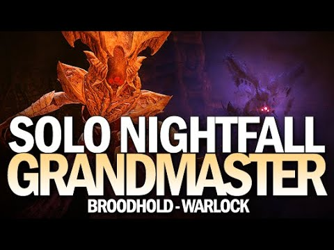 Solo Grandmaster Nightfall Broodhold On A Warlock [Destiny 2]