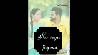 New romantic full screen status /Aankhe munde full screen status (download link👇🏻)