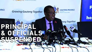 Gauteng Education MEC Panyaza Lesufi says Parktown Boys management failed to get approval from the district when taking grade 8 pupils on a trip that claimed the life of Enock Mpianzi.Lesufi has released the findings into a preliminary report after the 13-year-old boy died at a school orientation camp at the Nyati Bush and River Break Lodge last week. The MEC has announced the decision to suspend Parktown Boys headmaster Malcolm Williams.