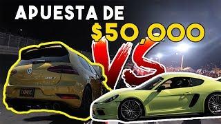 LA CARRERA MAS ESPERADA THANOS GOLF R VS PORSCHE CAYMAN 718 S    ALFREDO VALENZUELA