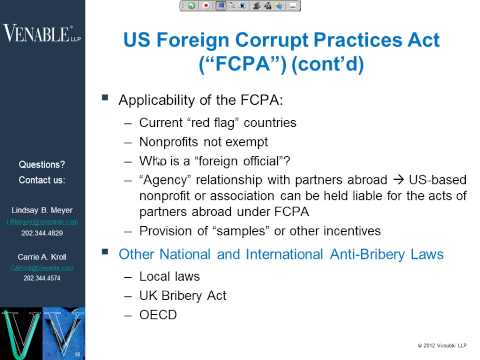 Overseas Operations: What Every Nonprofit Should Know Before Crossing US Borders - February 22, 2012