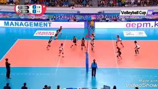 Wonderful set of Thailand and Japan volleyball