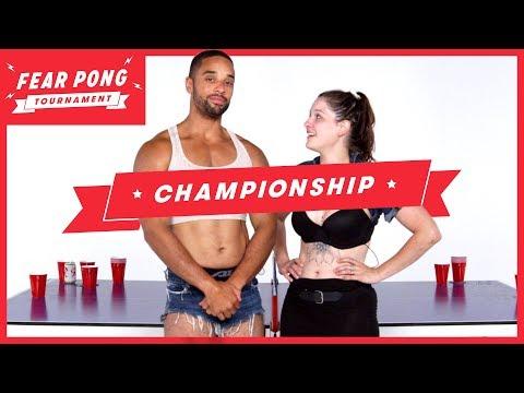 Fear Pong $1,000 Championship! (Aaron vs. Breanna) | Fear Pong | Cut