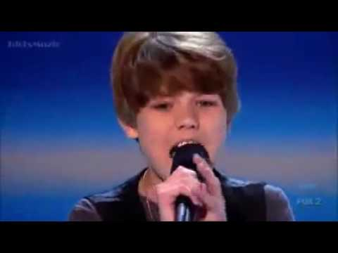 Baby Justin Bieber First song in audition X Factor USA ...