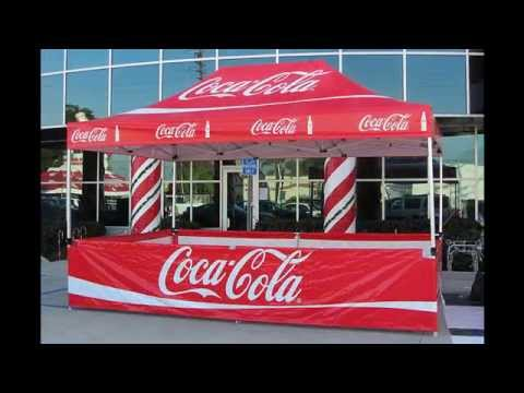 Custom Pop Up Tents Printed Easy Up Canopies & Custom Pop Up Tents Printed Easy Up Canopies - YouTube
