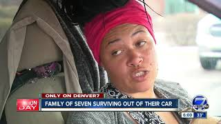 Cycle of poverty has family of 7 living inside SUV in suburban Denver