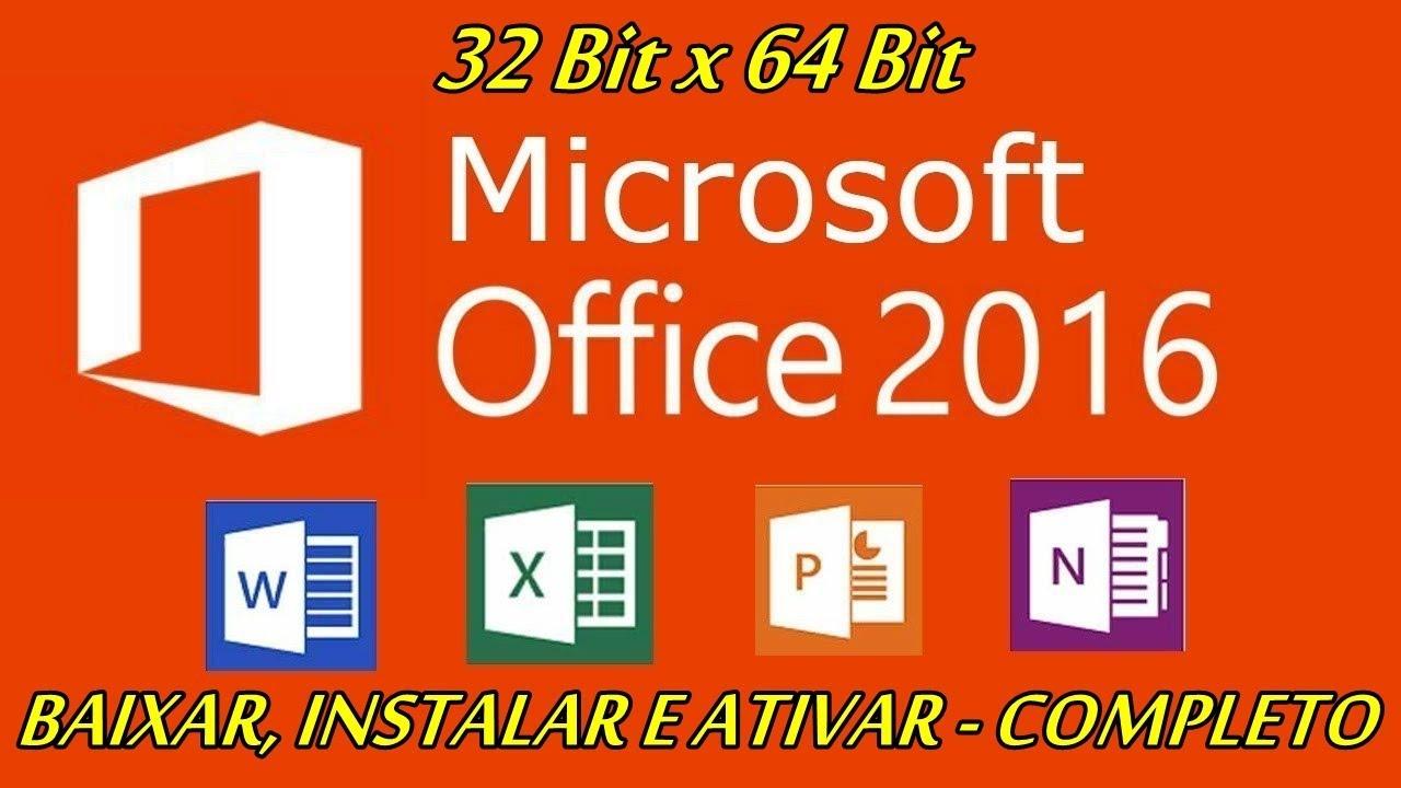 Como baixar, instalar e ativar Office 2016 ( …