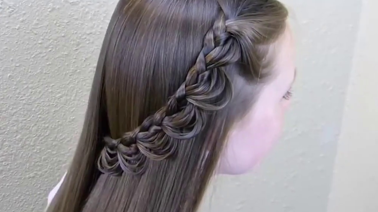 Simple & Beautiful Hair Style for Girls - YouTube