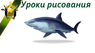 Уроки рисования в Photoshop. Уроки рисования АКУЛЫ. (Drawing Sharks)(Учимся рисования пошагово: http://color.artatac.ru/risunokbasis.html Уроки рисования: http://artatac.ru/uroki_risovaniia/perspektiva/kak-pravilno-risovat.html..., 2014-09-17T10:08:09.000Z)