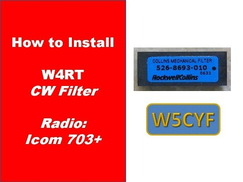 W4RT CW Filter Install - ICOM 703