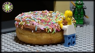Lego Simpsons Huge Donut Arcade Game