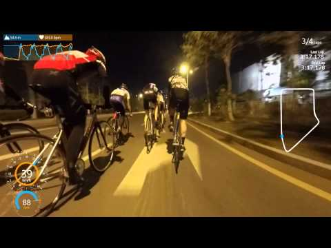 China Fixed gear 4 laps Crit race
