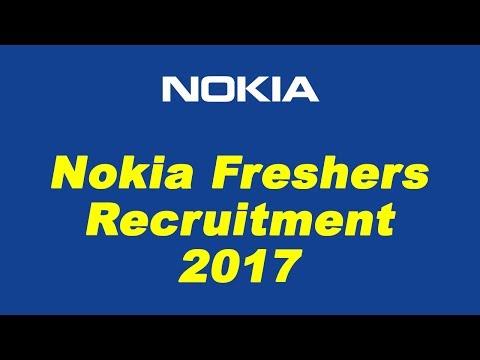 Nokia Freshers Recruitment 2017 | Engineer Trainee | Bangalore